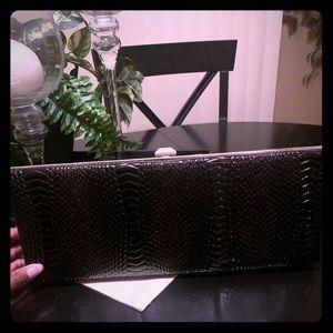 Handbags - Faux Snake Skin Clutch